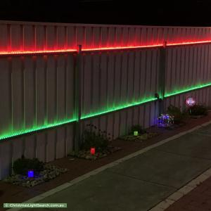 Christmas Light display at  Lerida Crescent, Salisbury Downs
