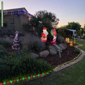 Christmas Light display at 4 Greenridge Court, Wynn Vale