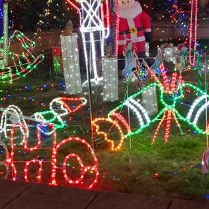 Christmas Light display at 16 Bogart Drive, Paralowie