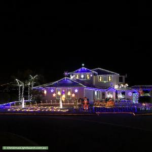 Christmas Light display at 14 Meadowbank Way, Landsdale
