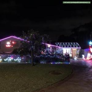 Christmas Light display at 14 Newbery Road, Wembley Downs