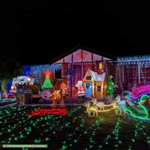 Christmas Light display at 6 Orania Mews, Warnbro