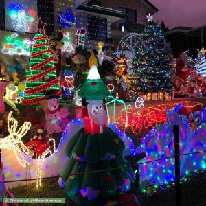 Christmas Light display at 5 Dickson Avenue, Mount Warrigal