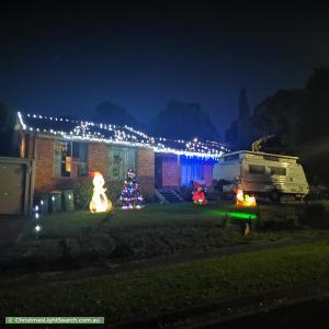 Christmas Light display at  Merrill Court, Mooroolbark