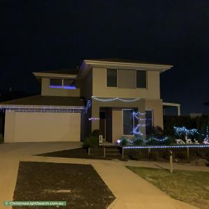 Christmas Light display at 56 Budburst Drive, Sunbury