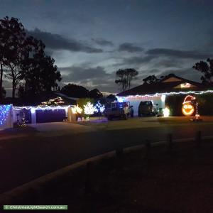 Christmas Light display at 39 Brushwood Circuit, Forest Lake