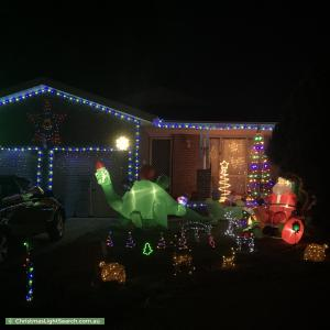 Christmas Light display at 15 Dent Place, Conder