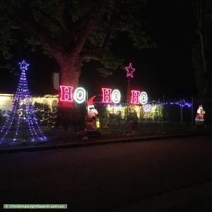 Christmas Light display at 2 Dirrawan Gardens, Reid
