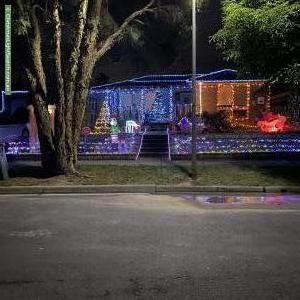 Christmas Light display at 18 Tyloid Square, Wantirna