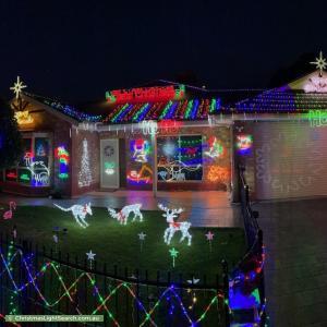 Christmas Light display at 6 Benthall Avenue, Oakden