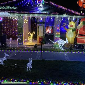 Christmas Light display at 25 Tobruk Street, Bardia