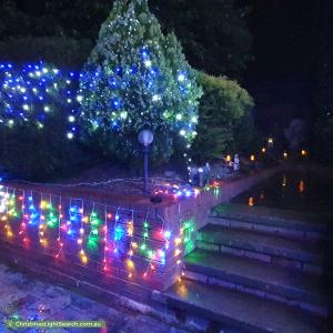 Christmas Light display at 13 Neeld Place, Charnwood