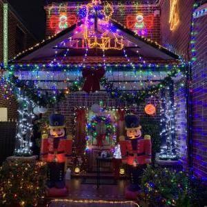 Christmas Light display at 75 Clarence Street, Merrylands