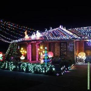 Christmas Light display at 27 Stanley Street, Wallan