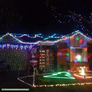 Christmas Light display at 7 Kayla Way, Kurunjang