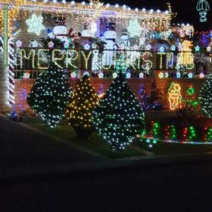 Christmas Light display at  Tahoe Close, Thornlie