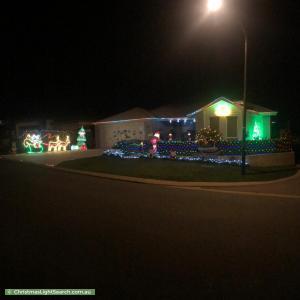 Christmas Light display at 10 Amazon Drive, Baldivis