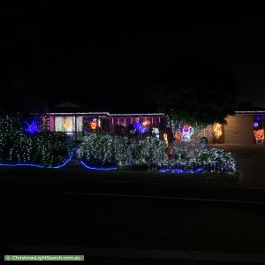 Christmas Light display at 14 Steve Lane, Woodcroft