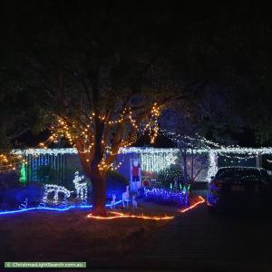 Christmas Light display at 13 Pecos Court, Wynn Vale