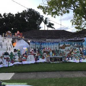 Christmas Light display at 5 Caledonian Avenue, Winston Hills