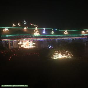 Christmas Light display at 86 Park Road, Donvale