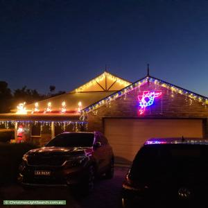 Christmas Light display at 29 Saddle Crescent, Walkley Heights