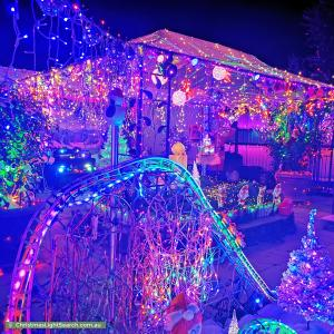 Christmas Light display at 12 Sundown Drive, Paradise Point