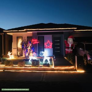 Christmas Light display at 72 Cochin Drive, Clyde North