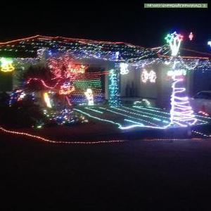 Christmas Light display at 8 Samson Court, Duncraig
