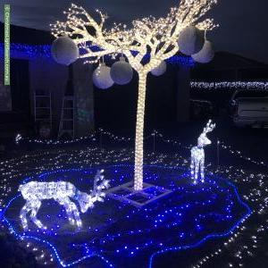 Christmas Light display at 7 Brandary Place, Hastings