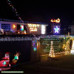 Christmas Light display at 34 Narelle Crescent, Rochedale South