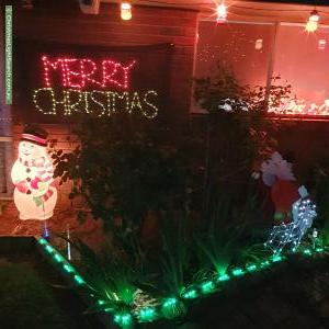 Christmas Light display at  Peppercorn Court, Cranbourne North