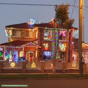 Christmas Light display at 1 Park Street, Merrylands