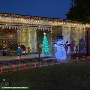 Christmas Light display at 7 Freda Gibson Circuit, Theodore