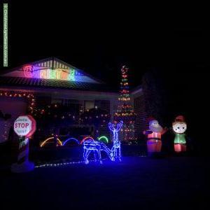 Christmas Light display at 8 Paula Pearce Place, Bella Vista