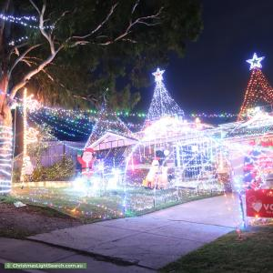 Christmas Light display at 12 Kristina Court, Pakenham