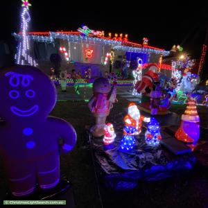 Christmas Light display at 9 Trezise Place, Quakers Hill