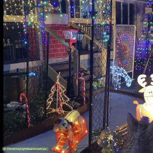 Christmas Light display at 3 Lee Place, MacGregor