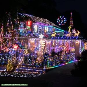 Christmas Light display at 8 Hansford Close, Kilsyth