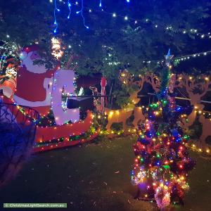 Christmas Light display at 106 Archdall Street, Dunlop