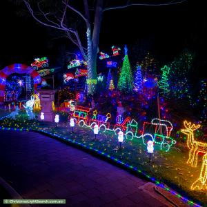 Christmas Light display at 9 Elura Court, Sheidow Park