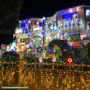 Christmas Light display at 60 Payten Avenue, Roselands