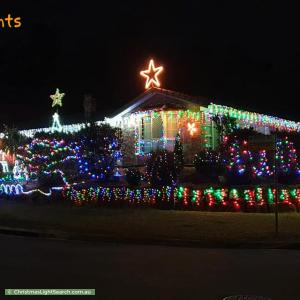 Christmas Light display at 1 Mirreh Place, Chapel Hill