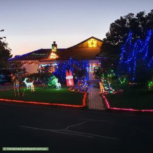 Christmas Light display at 25 Hillrise Court, Werribee
