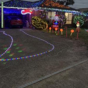 Christmas Light display at 22 Ruyton Drive, Capel Sound