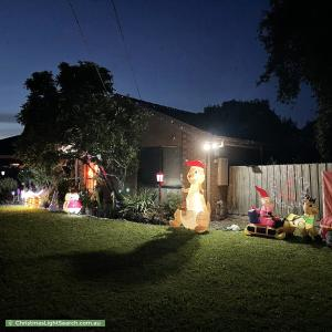 Christmas Light display at 49 Selkirk Avenue, Wantirna