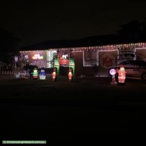 Christmas Light display at 8 Beilby Place, Kambah