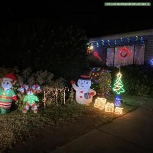 Christmas Light display at 31 Eames Avenue, Brooklyn