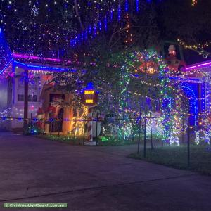 Christmas Light display at 66 Carween Ave, Mitcham
