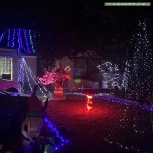 Christmas Light display at 58 Bradley Grove, Mitchell Park